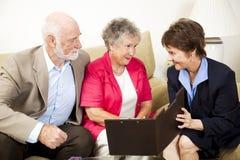 Reunião de vendas da Em-HOME Fotos de Stock