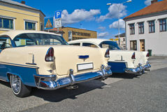 A reunião do carro do Am halden dentro (Chevrolet 1955) Fotografia de Stock
