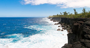 Reunion island coastline Royalty Free Stock Image