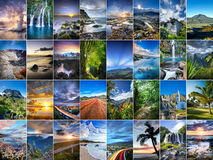 Reunion Island collage Royaltyfria Foton