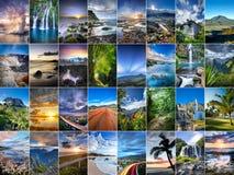 Reunion Island collage royaltyfria foton