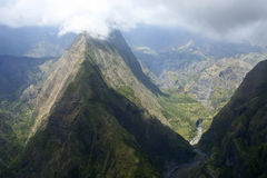 Reunion island. High mountains in Reunion island - rivieres des galettes stock photo