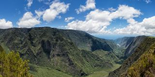 Reunion island mountains cirque Stock Photography