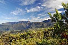 Reunion island - mountains. Lookout point - Reunion island, mountain view, summer Royalty Free Stock Photography