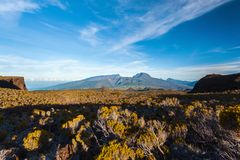 Reunion island. View on Piton des Neiges. View on the highest summit of Reunion island : Piton des Neiges royalty free stock photography