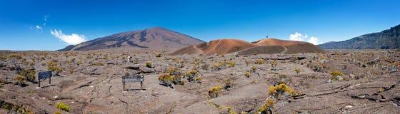 Reunion National Park. Panoramic view of Formica and Dolomieu craters in Reunion National Park; Reunion Island Stock Photography