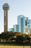 Reunion tower. And modern hotel in downtown Dallas, TX Royalty Free Stock Photo