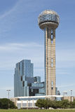 Reunion Tower, Dallas, TX. Reunion Tower and Modern Hotel in Downtown Dallas, Texas Stock Photography