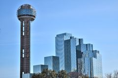Reunion Tower in Dallas, TX Pic 2. This was shot looking over to the Reunion tower in Dallas, TX Stock Photos