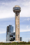 Reunion Tower in Dallas, Tx, USA. DALLAS, USA - APR 7: The famous Reunion Tower with a 171 m high observation deck in Dallas Downtown. April 7, 2016 in Dallas Stock Images