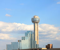 Reunion Tower in downtown of Dallas Royalty Free Stock Photo