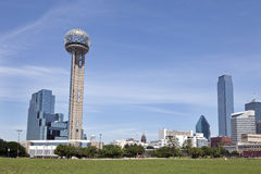 Reunion Tower and Downtown Dallas, TX Stock Photo
