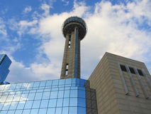 Reunion tower. In Downtown Dallas, TX Stock Photos