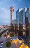 Reunion Tower and the Hyatt Regency Dallas Stock Photo