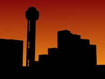 Reunion tower at sunset Stock Photography