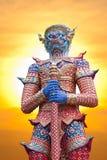 Reus bij de tempel van Thailand royalty-vrije stock foto's