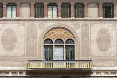 Reus,Catalonia,Spain. Architecture, modernist style, building facade, Casa Gasull,by Lluis Domenech i Montaner, Reus,province Tarragona,Catalonia Royalty Free Stock Photography