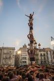 REUS HISZPANIA, Październik, - 01, 2011: Castells występ obrazy stock
