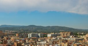 Cityscape of Reus, taken from the Prioral de Sant Pere. Shoot in June 2018. Reus, located west of Tarragona, is the birthplace of the famous Spanish architect stock image