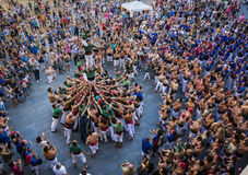 Reus, Spain - June 17, 2017: Castells Performance, stock photography