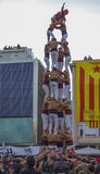 REUS SPANIEN - APRIL 23, 2017: Castells kapacitet royaltyfria foton