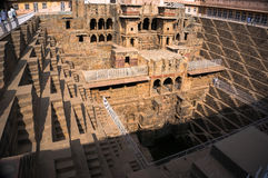 Reus stepwell van abhaneri in Rajasthan Royalty-vrije Stock Foto's