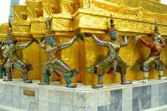 Reus in Wat Phra Kaew Bangkok, Thailand Stock Afbeeldingen