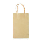 Reusable brown paper bag Stock Image