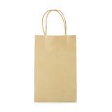 Reusable brown paper bag Stock Image