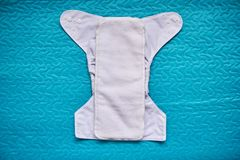 Reusable clean cloth diaper Royalty Free Stock Images