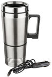 Reusable electrical stainless steel travel thermal mug Royalty Free Stock Photo