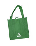 Reusable green shopping bag with recycle symbol Royalty Free Stock Image