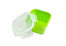 Reusable plastic food storage container for home use Royalty Free Stock Photography