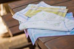 Reusable 100 procentów bawełny chusteczki Fotografia Stock