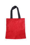 Reusable red polyester bag Royalty Free Stock Photo
