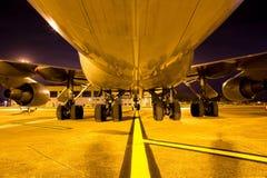 Reusachtig Boeing 747 vliegtuigen, één van mooiste ai van de wereld stock foto