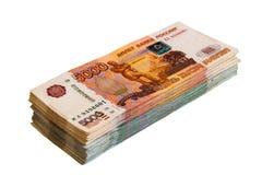 Reusachtig broodje van geld royalty-vrije stock foto
