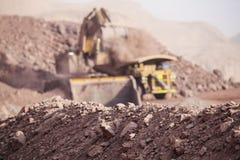 Reusachtig Graafwerktuig mijnbouw Stock Foto