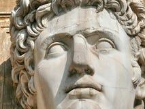 Reusachtig hoofd dat in marmer wordt gesneden. Vatikaan. Rome. Italië Royalty-vrije Stock Foto's
