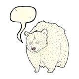 reusachtig ijsbeerbeeldverhaal met toespraakbel royalty-vrije illustratie