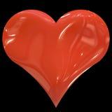 Reusachtig rood hart royalty-vrije illustratie