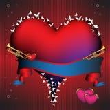 Reusachtig rood hart vector illustratie
