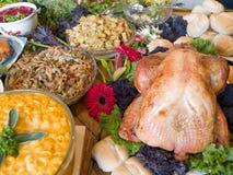 Reusachtig uitgespreid van voedsel Royalty-vrije Stock Afbeelding