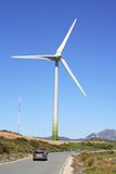 Reusachtig zeil van de generator van het windlandbouwbedrijf in Spanje Royalty-vrije Stock Foto