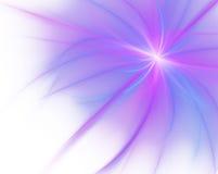 Reusachtige abstracte fractal die op witte achtergrond wordt geïsoleerdt Stock Foto