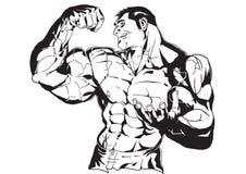Reusachtige bicepsen vector illustratie