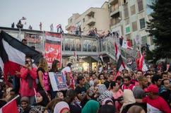 Reusachtige demostrations tegen voorzitter Morsi in Egypte Stock Foto