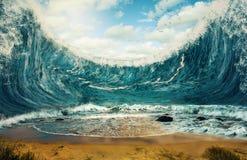 Reusachtige golven Royalty-vrije Stock Afbeelding