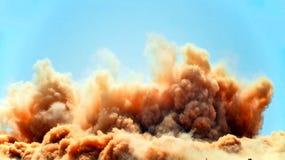 Reusachtige industriële ontploffing op de plaats royalty-vrije stock afbeelding