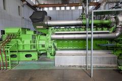 Reusachtige industriële reservedieaselgenerator. Stock Fotografie